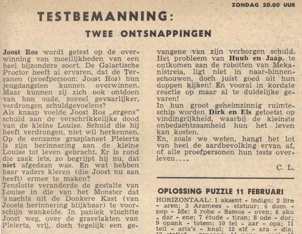 Deel 23. Aankondiging: Testbemanning informatie