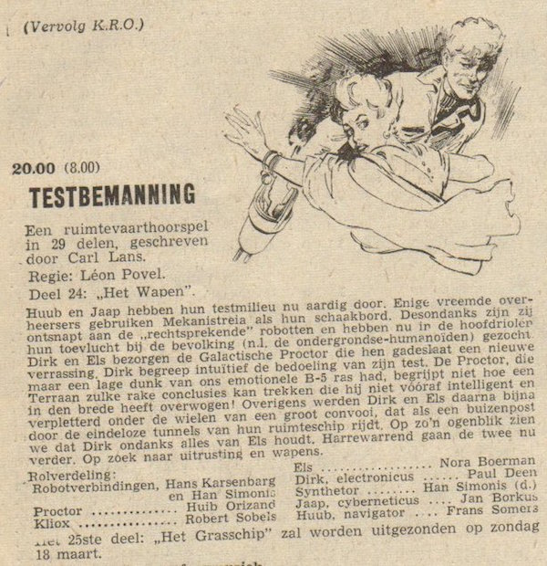 Deel 24. Aankondiging: Testbemanning