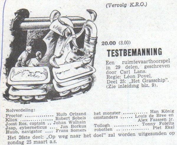 Deel 25. Aankondiging: Testbemanning