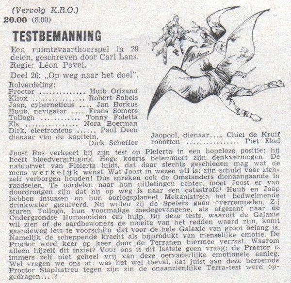 Deel 26. Aankondiging: Testbemanning