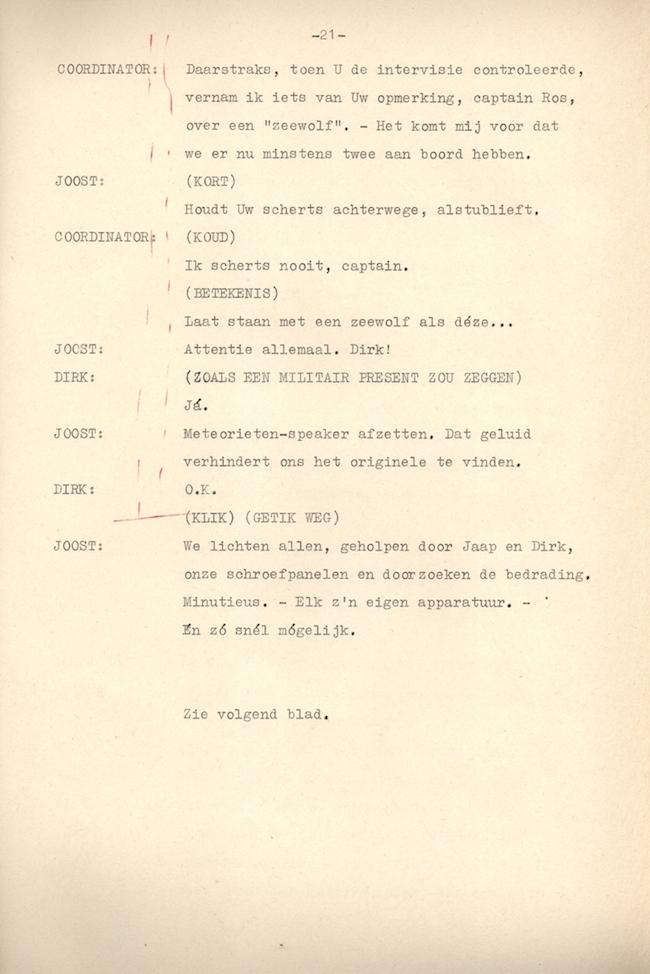 Originele script vierde deel Testbemanning.