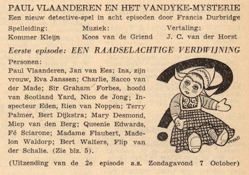 Deel 1. Paul Vlaanderen en het Vandyke mysterie.