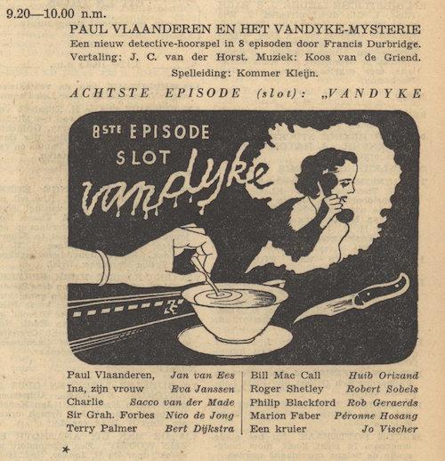 Deel 8. Paul Vlaanderen en het Vandyke mysterie.