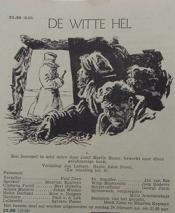 Deel 1. Aankondiging: De witte hel.