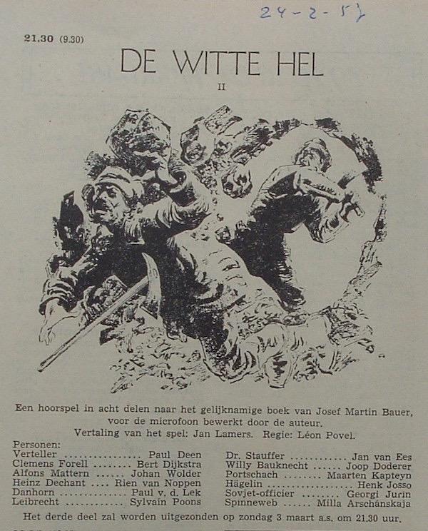 Deel 2. Aankondiging: De witte hel.