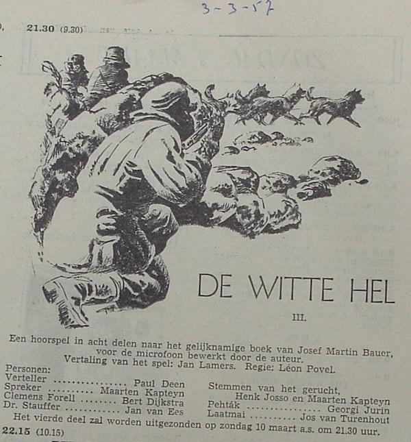 Deel 3. Aankondiging: De witte hel.