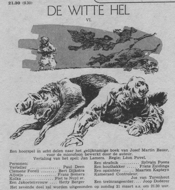 Deel 6. Aankondiging: De witte hel.