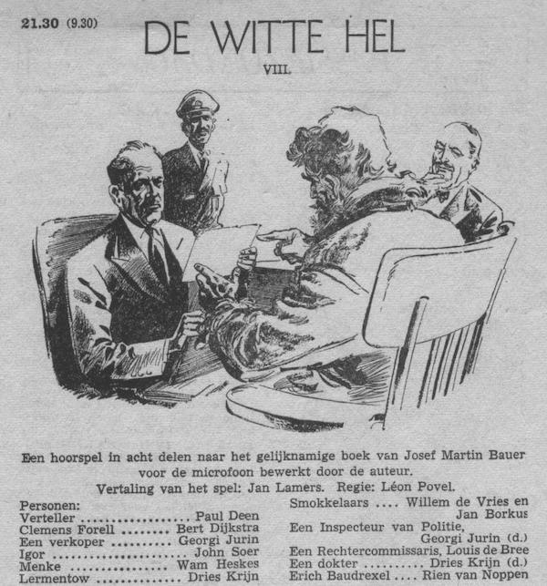 Deel 8. Aankondiging: De witte hel.