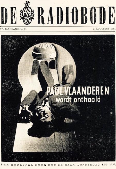 Cover van de radiogids. Paul Vlaanderen wordt onthaald.