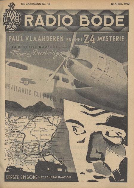 Cover van de radiogids. Paul Vlaanderen en het Z4 mysterie.