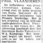 Paul Vlaanderen artikel uit De Vrije Pers (Soerabaja) van 3 maart 1949