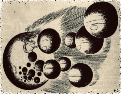 Tekening uit de radiogids Sprong in het heelal 03