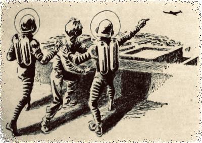 Tekening uit de radiogids Sprong in het heelal 04