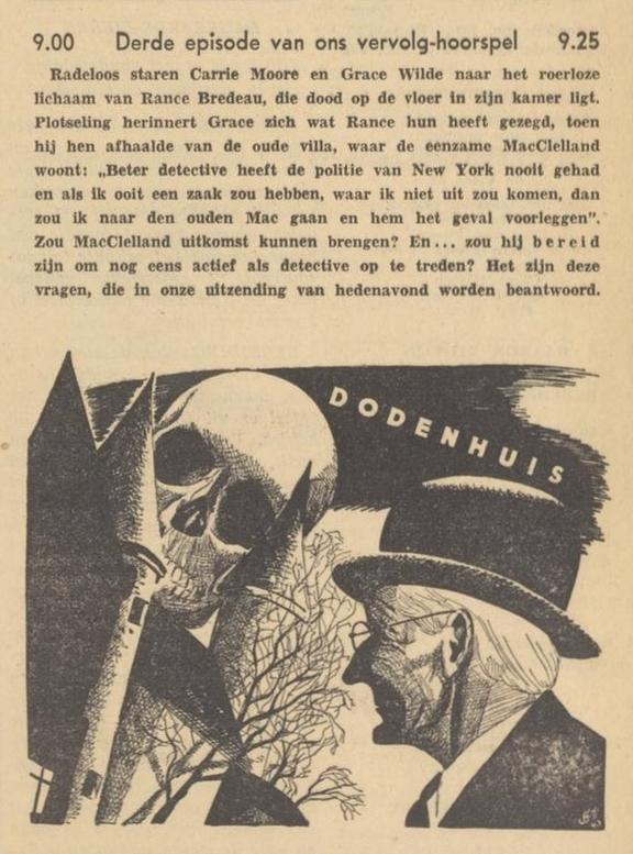 Uit de radiogids: 1940 Deel 03 Dodenhuis