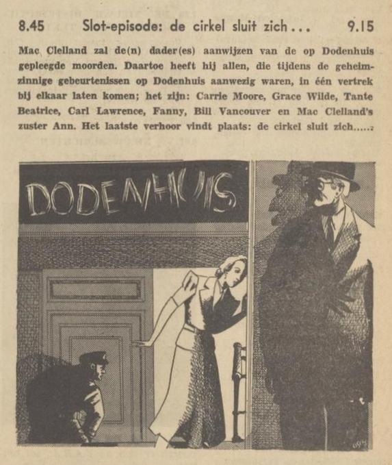 Uit de radiogids: 1940 Deel 10 Dodenhuis