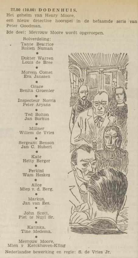 Uit de radiogids: 1953 Deel 3 Dodenhuis