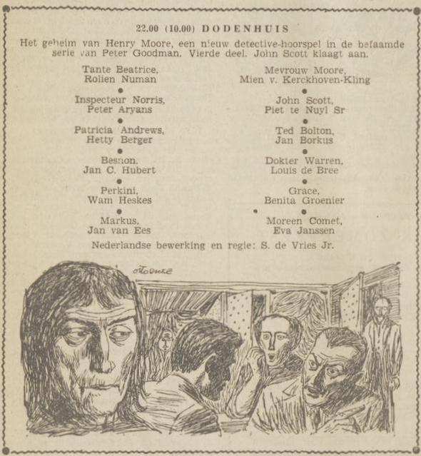 Uit de radiogids: 1953 Deel 4 Dodenhuis