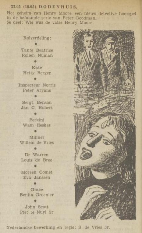 Uit de radiogids: 1953 Deel 5 Dodenhuis