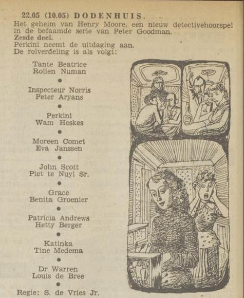 Uit de radiogids: 1953 Deel 6 Dodenhuis