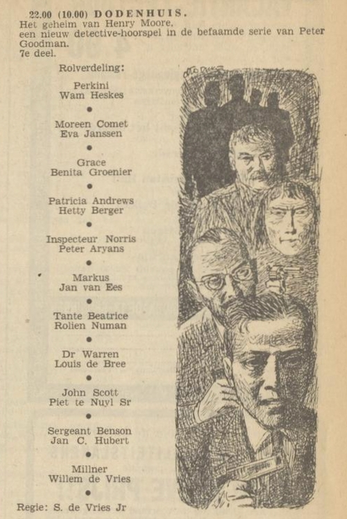 Uit de radiogids: 1953 Deel 7 Dodenhuis