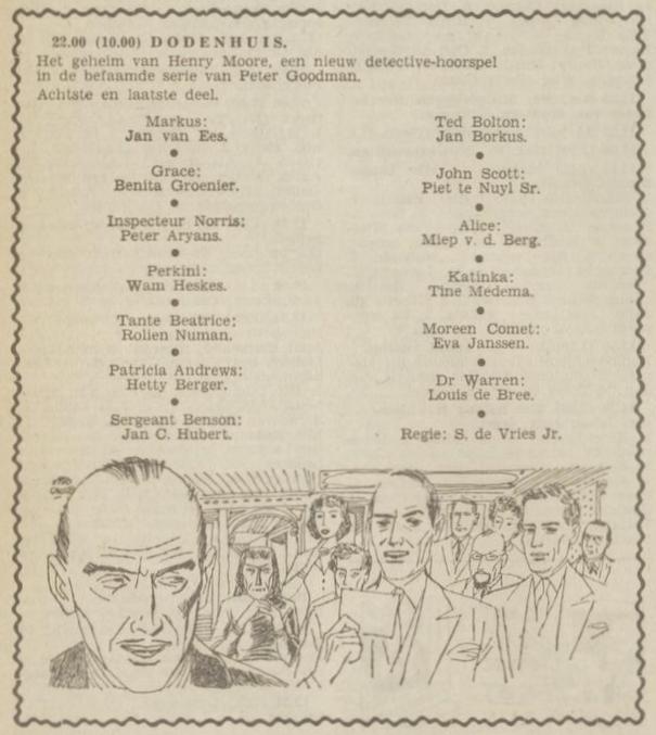 Uit de radiogids: 1953 Deel 8 Dodenhuis