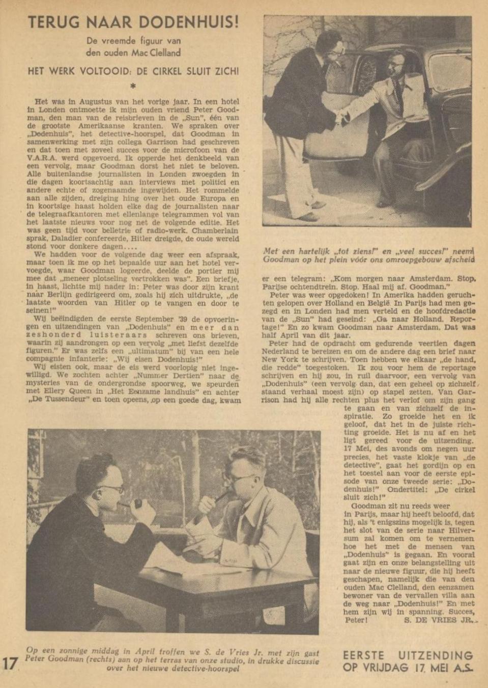 Uit de VARA gids 11 mei 1940 - informatie 01
