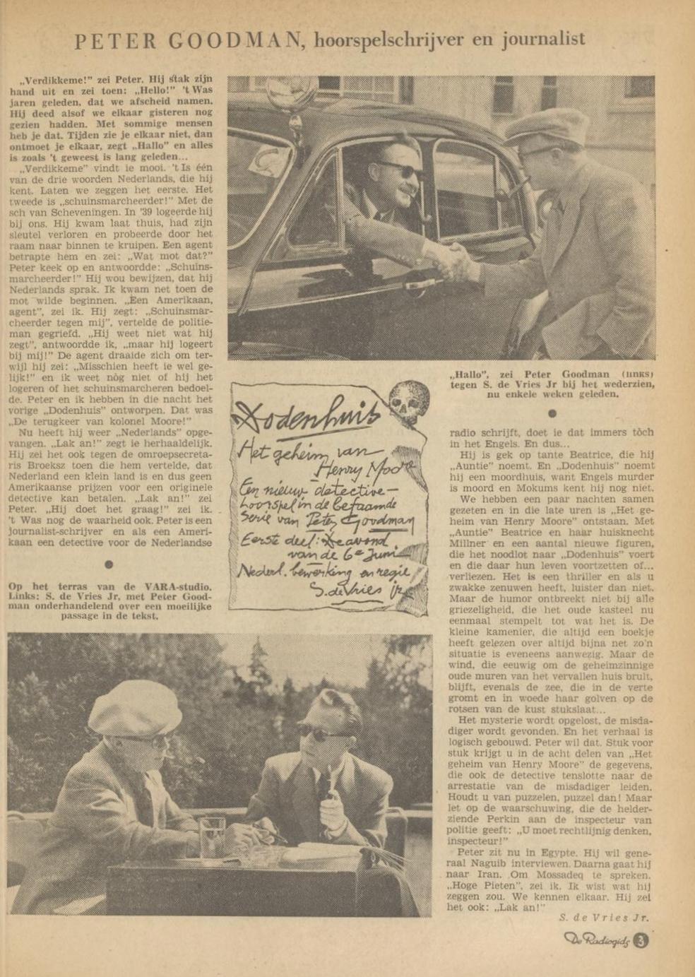 Achtergrondinformatie: VARA-gids 31-05-1953