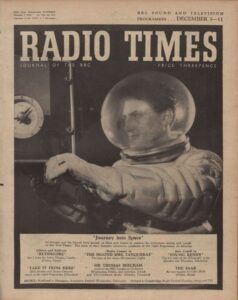 The red planet cover The Radio Times dec 1954